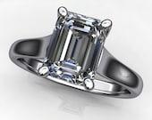 Private listing for Barbara - katya ring - 1.75 carat emerald cut NEO moissanite engagement ring