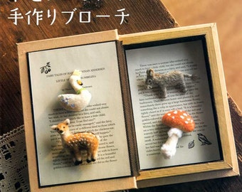 Wool Felt Handmade Brooch - Japanese Craft Book