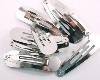 24 pieces - 90mm Round Snap Clip for Hair Bows - hat fascinators veil bridal accessories - wholesale bulk