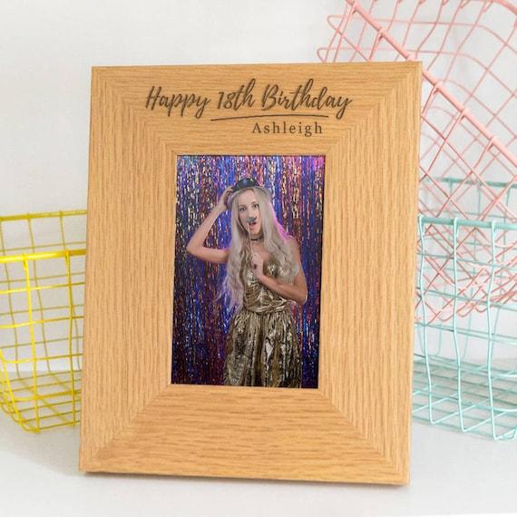 Birthday Photo Frame Personalised 18th Birthday Gift