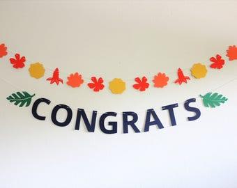 Banner Set 'Congrats' + Flowers