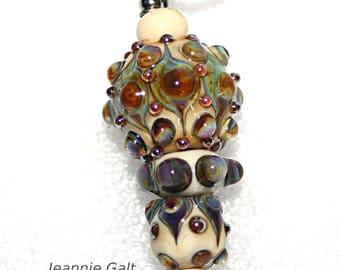 Lampwork  Art Jewelry Pendant by Jeanniesbeads #21