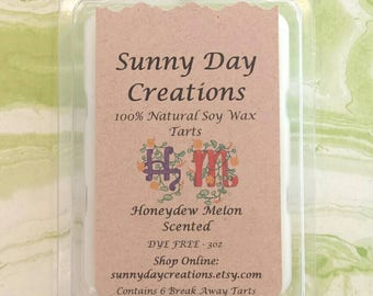 Honeydew Melon Scented 100% Natural Soy Wax Break Away Tarts 3 oz