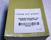 Chartreuse Green 100 Blank Foldover Cards