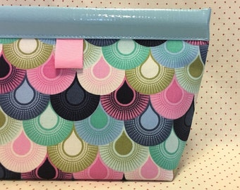 Mermaid Scales Oilcloth Snappy Pouch - 2 sizes