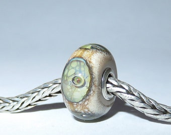 Luccicare Lampwork Bead - Eyes -  Lined with Sterling Silver