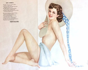 1950s Equire Pinup Centerfold - Vargas