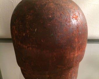 Vintage Wooden Cloche Hat Block