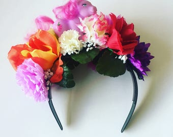Flower Floral My Little Pony Head Dress Head Band Festival