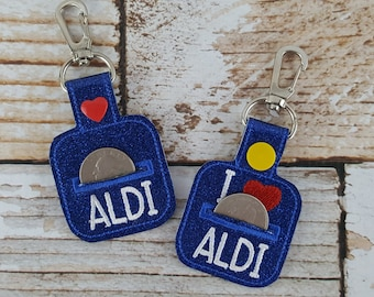 Aldi Quarter Keychain - Quarter Keeper - Cart Quarter Keychain for Aldi and similar stores