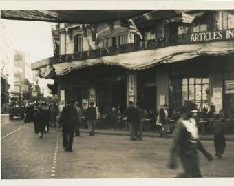 vintage photo 1944 Grand Cafe Riche Oran Algiers Africa Original Private Photograph