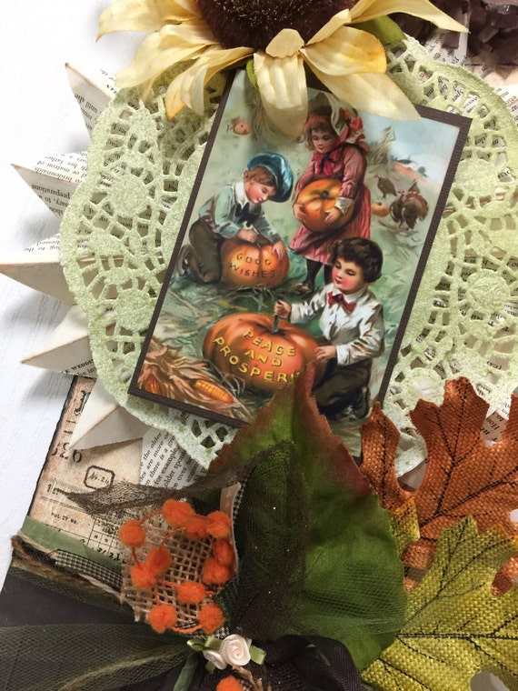 Thanksgiving decor vintage pennant kit by photographic