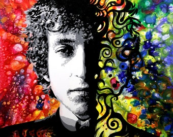 """Bob Dylan signed 18""""x18"""" canvas giclee"""