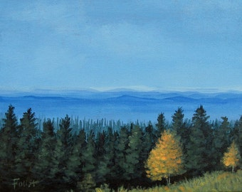 Blue Ridge Mountains, Smoky Mountains, Landscape, Original painting on canvas, Blue Ridge, Foust