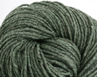 Hand Dyed Aran weight mini Empire Rambouillet Wool 213 yds 4oz Minty