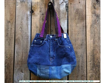 Recycled denim  Market bag #004