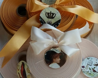 Reserved Order for Kelly....100 Yards Wide Ivory or Gold Ribbon ..Beautiful..Packages, Weddings