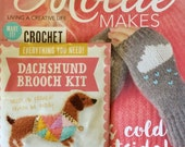 Mollie Makes Magazine - It's Cold Outside - Issue 74 - With Dachshund Brooch Kit - 11.00 Dollars