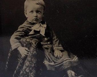 Vintage TinType Child