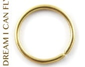6mm 22g 14K Gold Seamless Hoops - 6mm delicate tiny cartilage hoops in 22 gauge solid 14K yellow, rose, or white gold