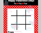 Tic Tac Toe Valentine. Printable. Instant Download.  Class Valentine. Valentine. Game. Kids. Printable PDF. School. Perfect for kids