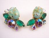 Juliana Easter Egg  Rhinestone Clip Earrings