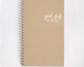 kraft foil notebook - good stuff