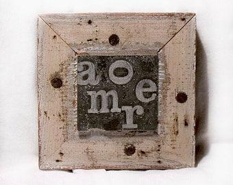 Amore  - Heart Art - Valentine - Mixed Media Wood Collage - Celebratory - Love Keepsake - Minimalist - One of a Kind - Love Note - Wall Art