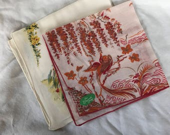 set of 2 handkerchiefs