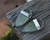 No. 1 - Play In The Leaves - Sterling Silver and Real Leaf Necklace
