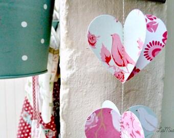 Valentines day decor, Valentine garland, Shabby chic party, Shabby chic wedding, baby shower decor, dusty pink, dusty blue, decorations
