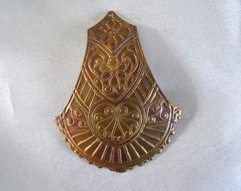 Vintage Brass Pendant Stamping