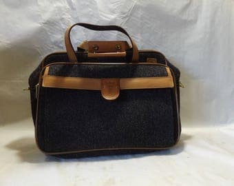 Vintage Hartmann Tweed Leather Belting Carry on Bag Suitcase Listed for charity