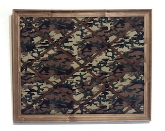 Framed French Memo Board Camouflage Memory Board Camo Memo Board