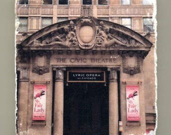 The Civic Theater - Lyric Opera  - Original Coaster