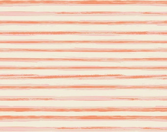 Row by Row Lit - Cultivate - Art Gallery Fabrics - Bonnie Christine - CUL-8673 - Striped Quilting Fabric - Orange Pink Ivory
