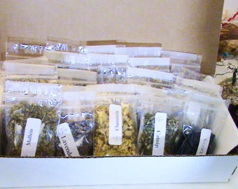 Box of 100 Herbs!!! Witches Herb Starter Kit! Wiccan herbs, herbs for spells, altar tools, witchcraft kits, spell kits, wiccan spells, pagan