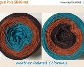 ON SALE Weather Related 3-ply tied cotton gradient yarn as seen in Giggle with a Jiggle