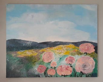 Of Mountains and Flowers Acrylic Art