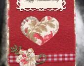 Valentine - Card - Greeting Card - Embellished Card - Handmade Valentine - Handmade Card