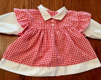 Red Gingham Dress 9/12 Months