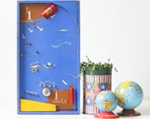 Vintage Pinball Game, Hustler Toys, Paris to New York, Marble Game