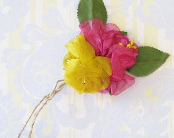 All Things Bright & Beautiful...Vintage Millinery Flower Trim