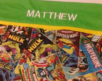 Personalized Pillowcase-3 options!  Marvel Comic, Music Notes, Sports