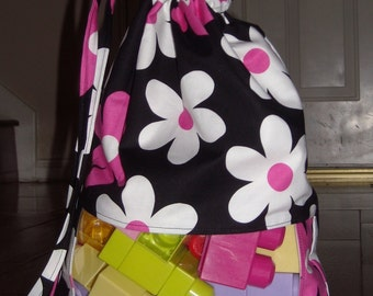 Fuchsia lil plain jane peek a boo toy sack