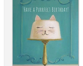 Purrfect Birthday. Birthday Card. SKU JH1134