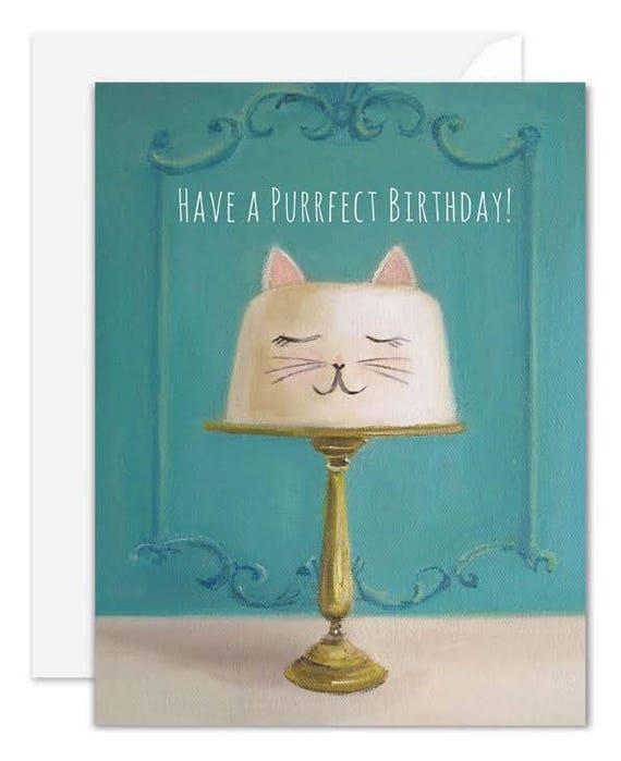 Purrfect Birthday. Birthday Card. SKU JH1134