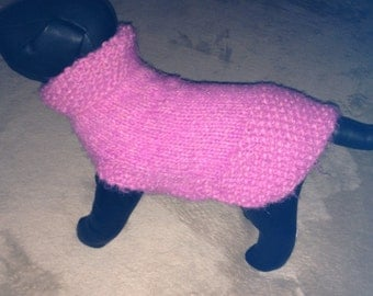 Pretty in Pink Chihuahua Dog Sweater