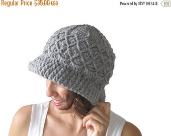 20% WINTER SALE NEW! Light Gray Pretty Woman Hat