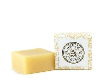 Guest Bath Soap, Citrus Soap, Shea Butter Soap, Vegan Soap, Gift Idea for Him, Gift for Her | Lemon Verbena Shea Butter Soap in Guest Size